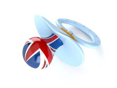 Easy UK language concept isolated on white background