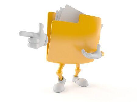 Folder character isolated on white background