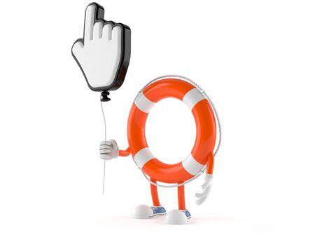 Life buoy character isolated on white background Stock Photo