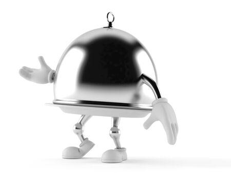 Silber Catering Kuppel isoliert auf weißem Hintergrund Standard-Bild - 92446380