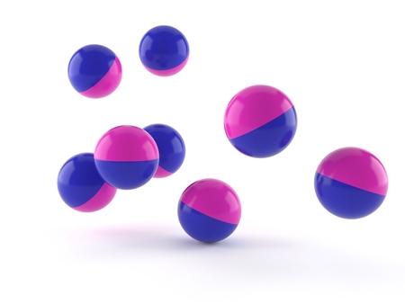 Paintball balls isolated on white background Stok Fotoğraf - 92503409