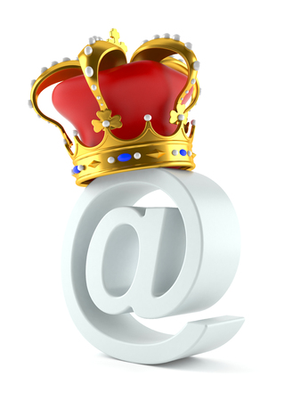 E-mail king concept isolated on white background