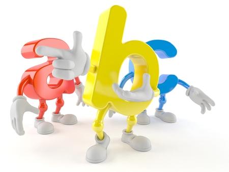 ABC character isolated on white background Stock Photo