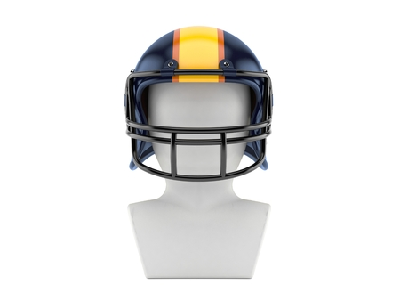 American football icon isolated on white background Stock Photo