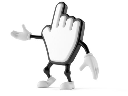 Cursor character isolated on white background