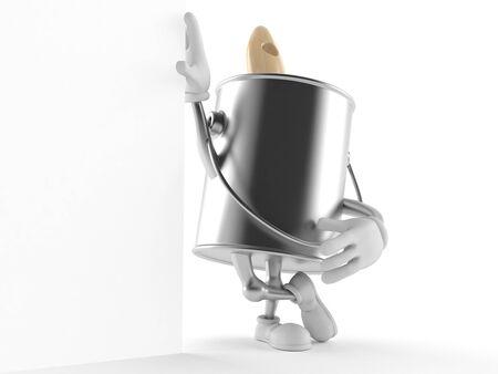Verf kan karakter geïsoleerd op een witte achtergrond Stockfoto