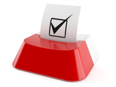Polish online voting concept isolated on white background Stock Photo