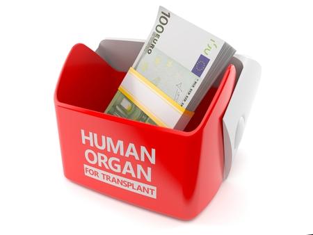 Rgano humano para el concepto de trasplante aislado sobre fondo blanco Foto de archivo - 93115325