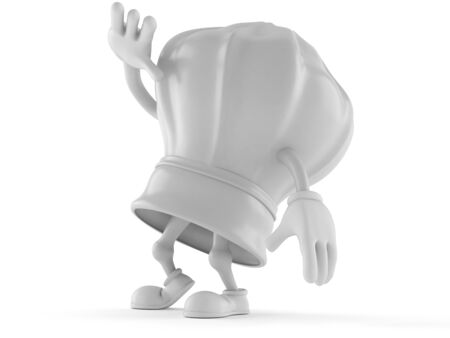 Chef character isolated on white background
