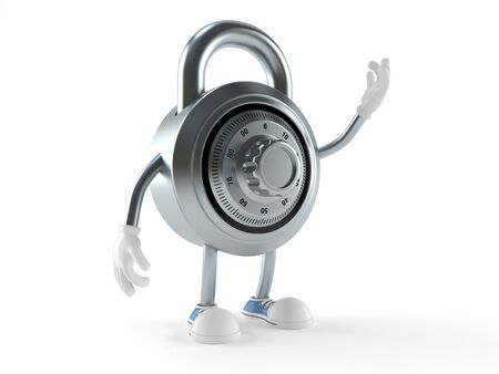 Combination lock character isolated on white background Stock fotó