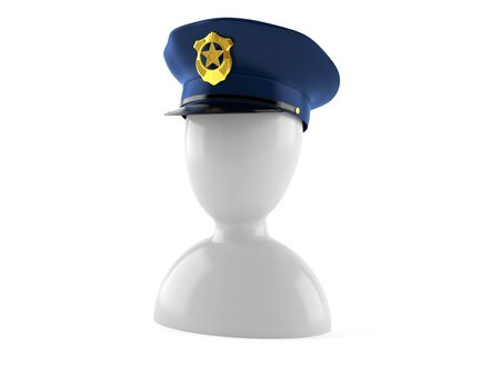 Policeman icon isolated on white background