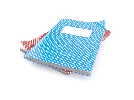 Werkboeken op witte achtergrond worden geïsoleerd die