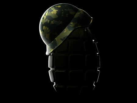 War concept isolated on black background Stock Photo