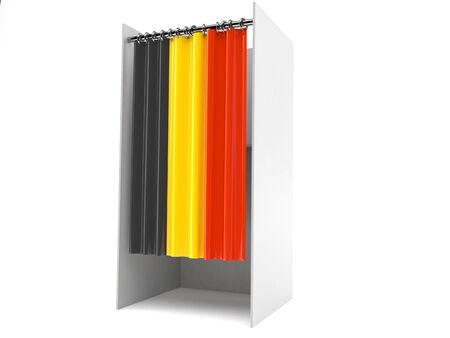 Vote cabinet with belgium flag isolated on white background Banco de Imagens