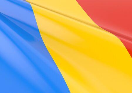 Waving romanian flag concept