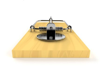 Mousetrap isolated on white background Stock Photo