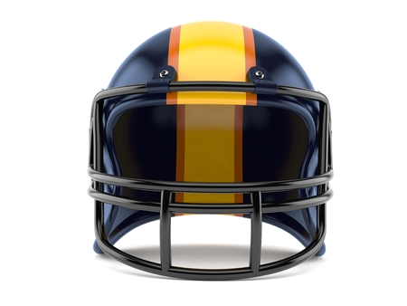 Football helmet isolated on white background