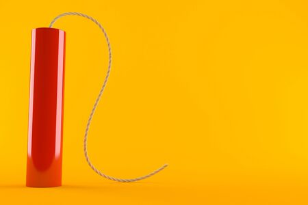 Dynamite isolated on orange background