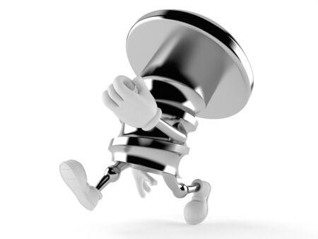 Bolt character running on white background Stock Photo - 94473830