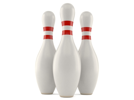 Bowling pins isolated on white background