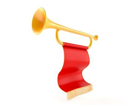 Trompette isolé sur fond blanc Banque d'images - 94670306
