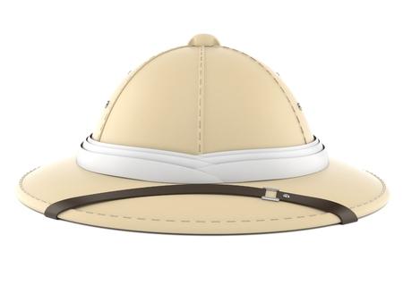 Pith helmet isolated on white background