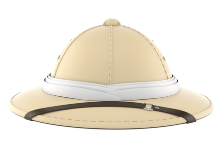 Pith helmet isolated on white background