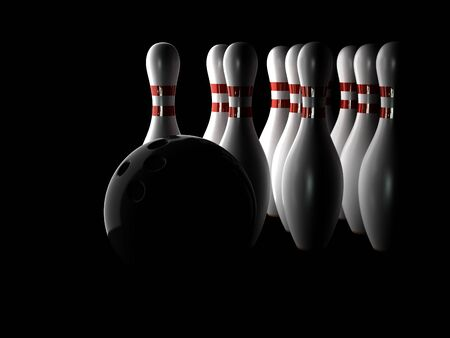 Bowling concept on black background