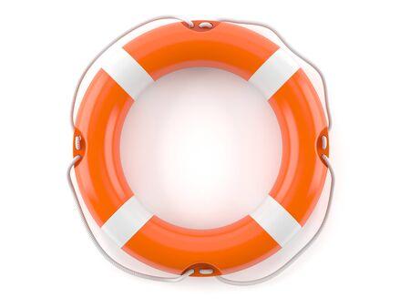 Life buoy isolated on white background