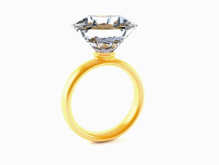 Diamond ring isolated on white background