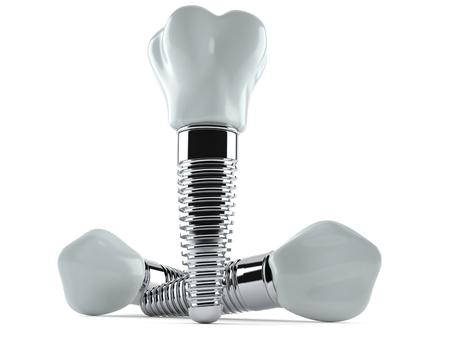 Dental implant isolated on white background