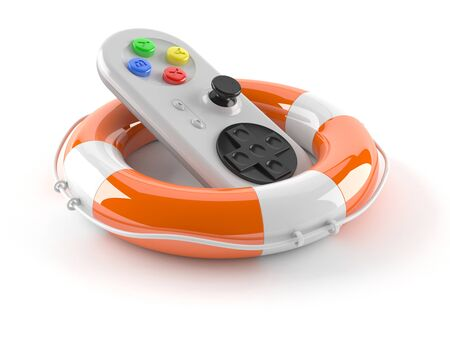 Gamepad with buoy isolated on white background