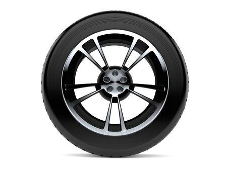 Car wheel isolated on white background 写真素材 - 95384824