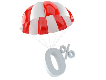 Rate concept with parachute isolated on white background 写真素材