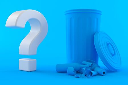 Environment background with question mark in blue color Stock Photo