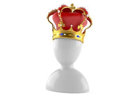 King icon isolated on white background