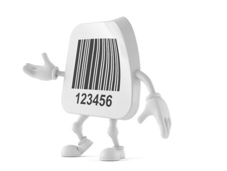 Barcode character isolated on white background Imagens