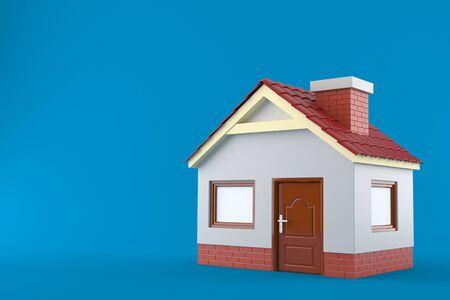 House isolated on blue background 免版税图像