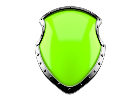 Shield isolated on white background Banco de Imagens