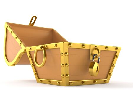 Open treasure chest isolated on white background Stock fotó