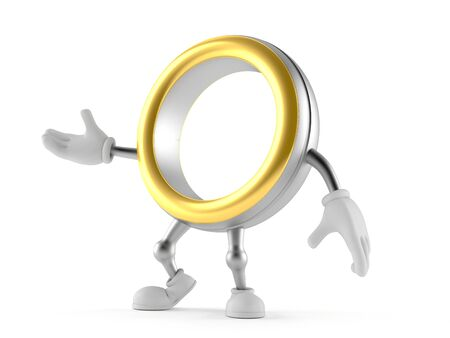 Wedding ring character isolated on white background