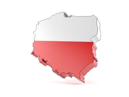 Poland country isolated on white background Stock Photo
