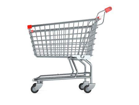 Einkaufswagen isoliert auf weißem Hintergrund Standard-Bild - 98625779