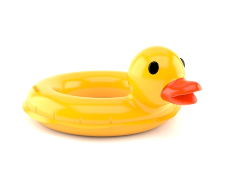 Duck buoy isolated on white background