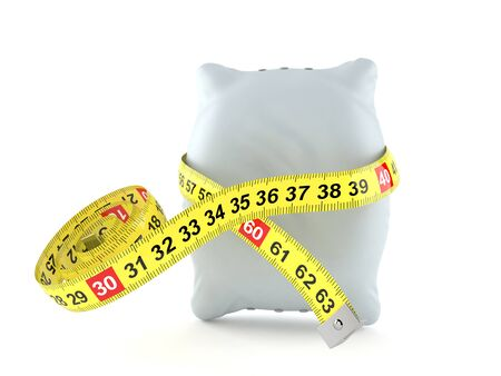 Pillow with centimeter isolated on white background. 3d illustration Stock Photo