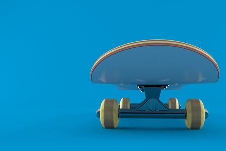 Skateboard isolated on blue background. 3d illustration