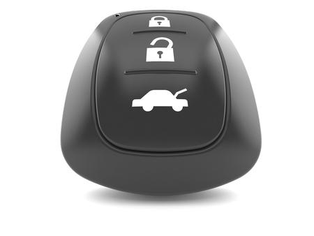 Car remote key isolated on white background. 3d illustration Imagens