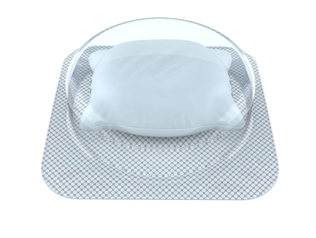 Pillow pill isolated on white background. 3d illustration Stock Photo