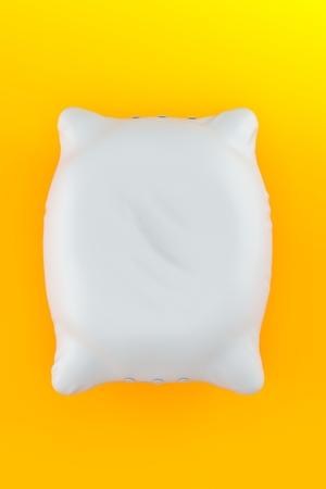 Pillow on orange background. 3d illustration Stock Photo