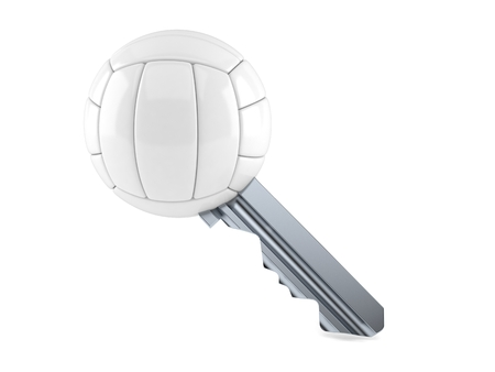 Volleyball ball key isolated on white background. 3d illustration 写真素材
